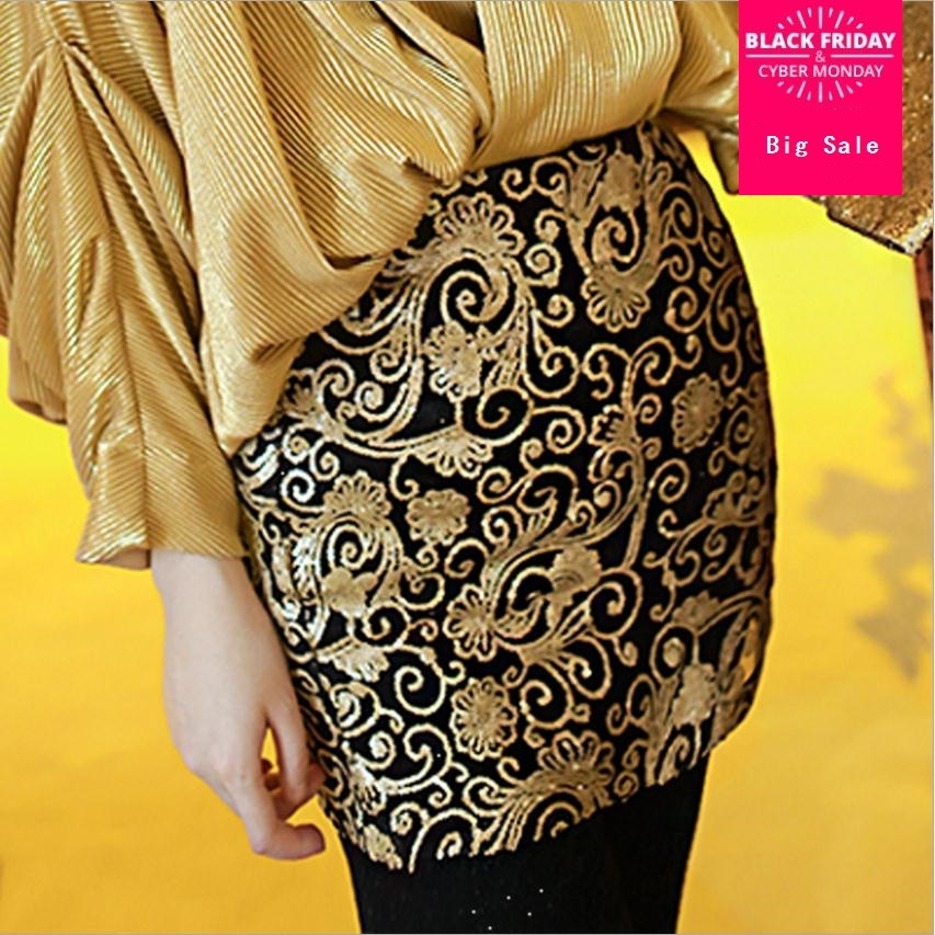 2018 malachite Bodycon Bandage Gold Sequin Skirt Sexy Petite Tight Skirts  for Women Ladies Was thin with mesh skirts wj2090-in Skirts from Women s  Clothing ... 8b78e0f28b25