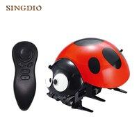 Creative Intelligent ladybug robot remote control Ladybug Funny bee Simulate toy Birthday Christmas for Children Gift