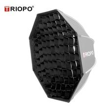 Photographie Softbox KS90 / KS65 nid dabeille grille pour Triopo Portable 90cm 65cm extérieur octogone parapluie boîte souple