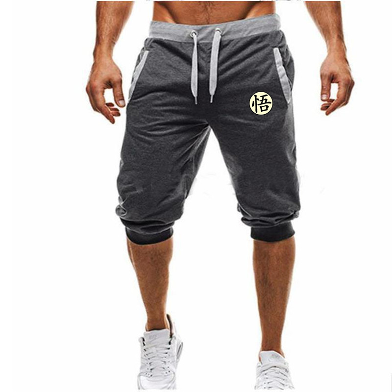 Hot-Selling Summer New Man's   Shorts   Casual   Shorts   Fashion Dragon Ball Goku print Sweatpants Fitness   Short   Jogger M-3XL