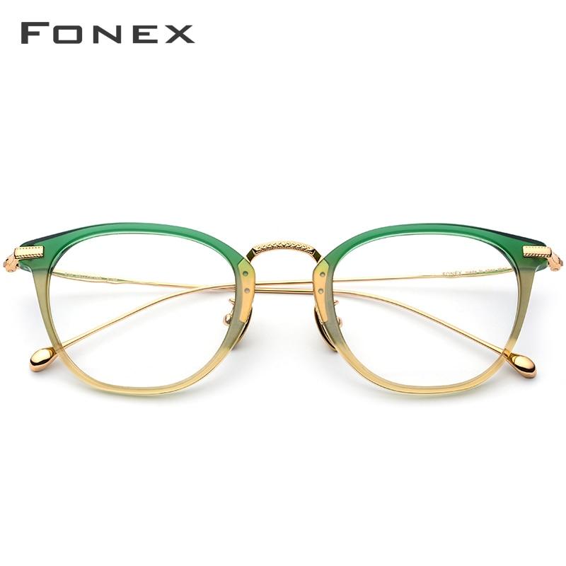 Image 2 - Pure B Titanium Optical Glasses Frame Men Vintage Square Prescription Eyeglasses Women Retro Round Myopia Spectacles Eyewear 839-in Women's Eyewear Frames from Apparel Accessories
