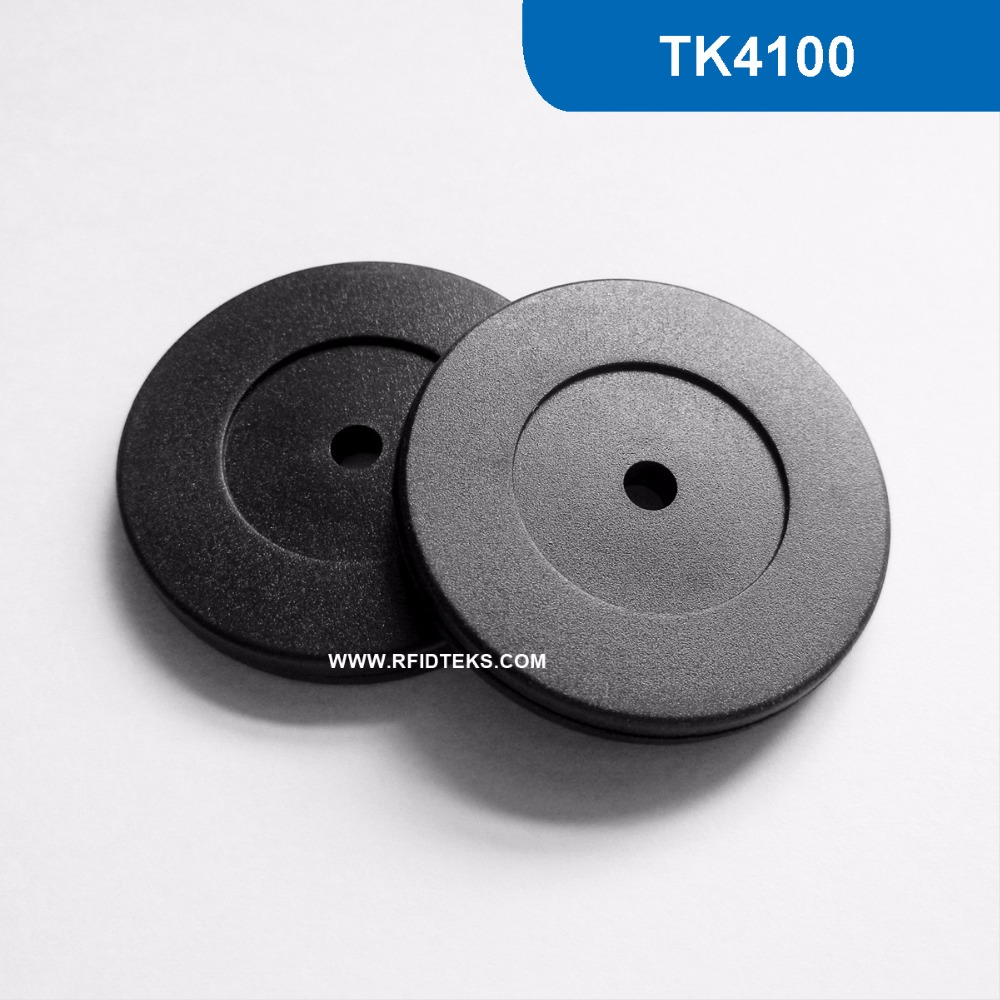 RT35MM ABS RFID Token Tag for asset Management TAG 125KHZ 64BITS R/O TK ISO18000-2 with TK4100 Chip waterproof contactless proximity tk4100 chip 125khz abs passive rfid waste bin worm tag for waste management