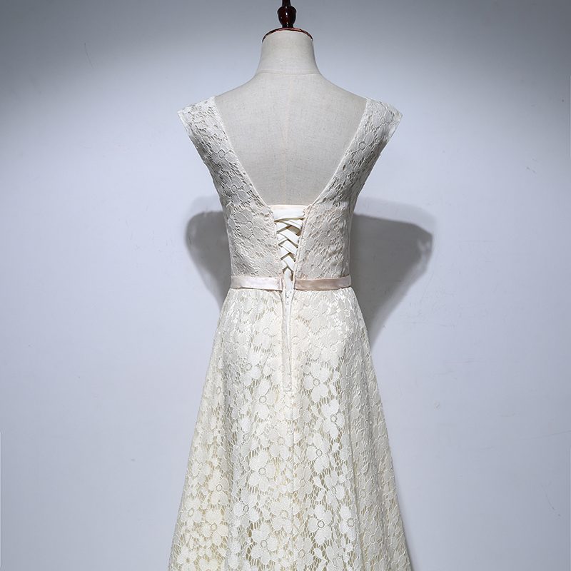 Levné šaty Matky Nevěsty Dlouhé 2017 A Line V Neck Lace Pouta - Šaty pro svatební hostiny - Fotografie 4