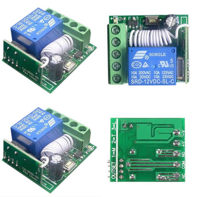 Mayitr DC12V 1 Channel Wireless Relay Switch 10A Wireless Relay RF Remote Control Switch Receiver DIY Module Onsale wireless relay switch