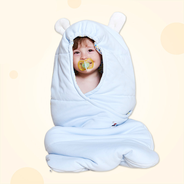 High Quality Cotton Warm Baby Hooded Infant Sleeping Bag Newborn Baby Spring Autumn Winter Anti Kicking Quilt Sleeping Sack