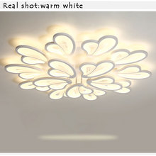 hot deal buy ac110v 220 white modern led chandelier luminaires led ceiling chandelier lighting fixtures for living room bedroom kitchen lamp