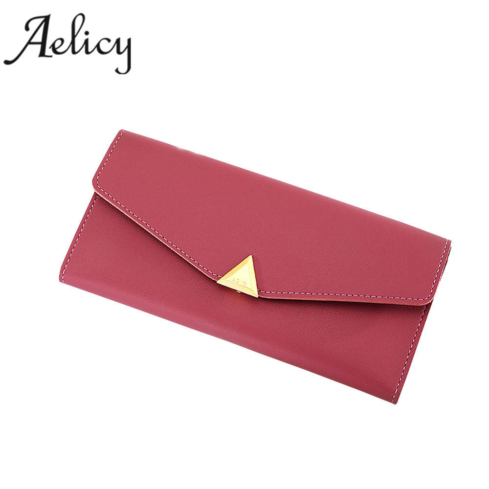 Aelicy Fashion Women's Large Capacity Business Card Holder Natural Wallets For Female Long Money Card Holder Bag billetera