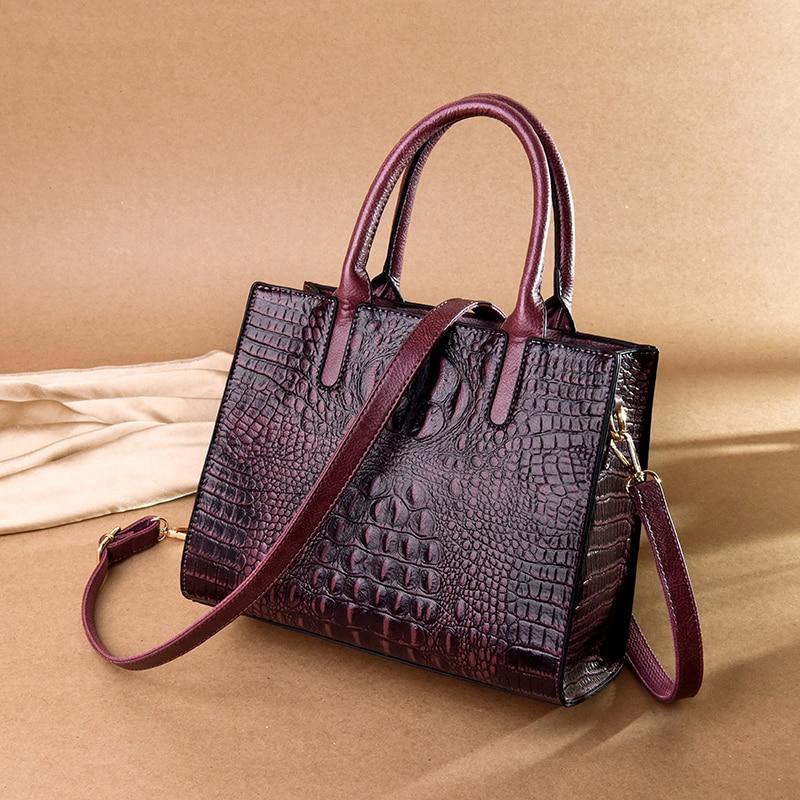 Yonder women handbags high quality alligator prints shoulder messenger tote bag