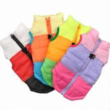 Popular Color Blocking Pet Apparel Dog Clothes Winter Puppy Dogs Vest Cotton padded Jacket Coat for Chihuahua Teddy Poodle XS L