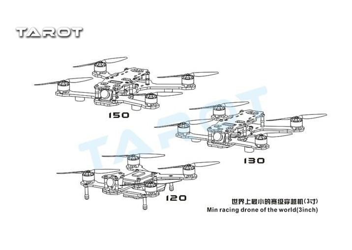 Tarot Racing Quadcopter TL150H1 150mm 4-Axis Carbon Fiber Quadcopter Aircraft with Camera Motor ESC Propeller Combo