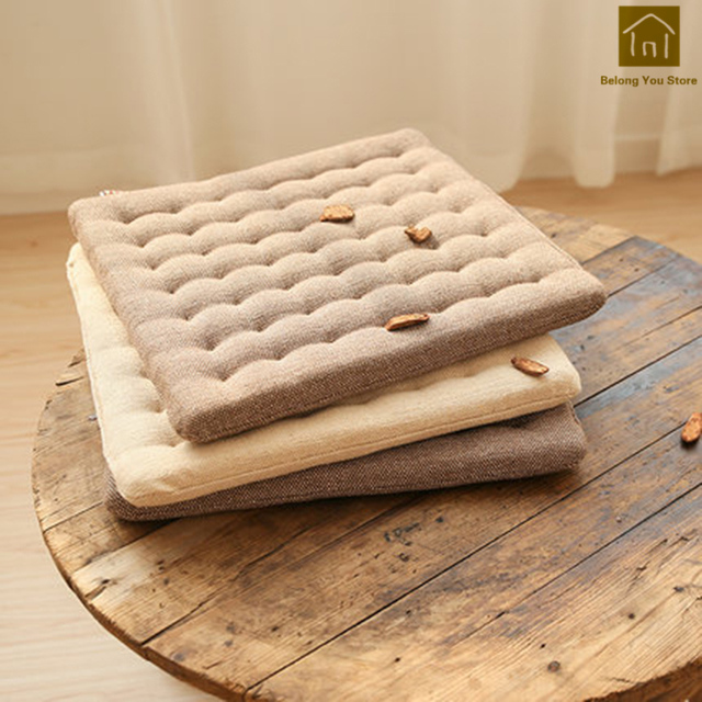 Wooden Chair Seat Pad Cushion Pillow Mat Floor Seats Cushions Anese Living Room Mats Designers Almofadas