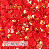 Hot Sale Resin Rhinestone Red AB 3mm 4mm 5mm 6mm Flatback Resin Stones For Garment Shoes