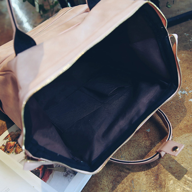 Fashion Women Leather Backpack Youth Korean Style Shoulder Bag 6