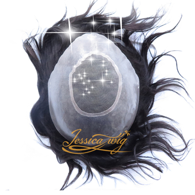 4 В Beautie Лучшие Индийские Волосы мужские Парик/Парик С Моно-Центр, дышащий и Прочный Система Волос Для Выпадения Волос