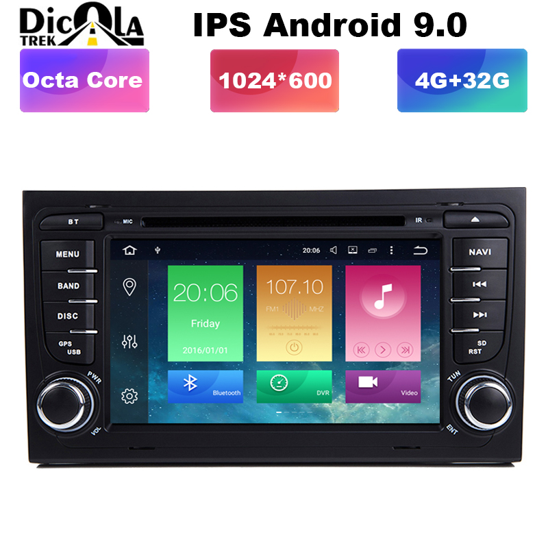 PX5 AutoRadio 2 Din Android 9 Car DVD Player for Audi A4 S4 B6 B7 RS4
