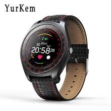 Inteligente Relógio V10 Esporte homens relógio de pulso Do Bluetooth Monitor De Freqüência Cardíaca Pedômetro Smartwatch Para Xiaomi Huawei Android telefone celular