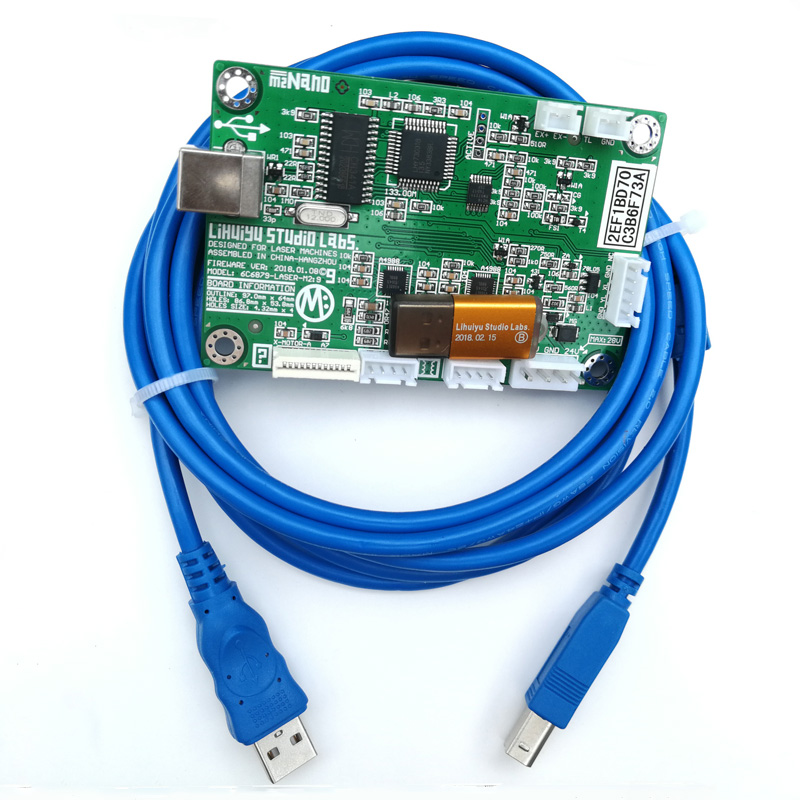 LIHUIYU M2 Nano Laser Controller Mother Main Board Mother Board+USB Dongle B+ USB Cable Used for Co2 Engraving Machine цены