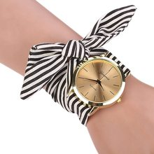 New Arrive Women Girls Ladies's Watches Style Informal Stripe Cloth  Bracelet Watch Three Colours Candy  Ladies Costume Wristwatch
