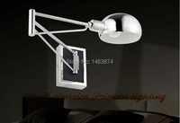 Retractable Folding Arm Wall Lamp LED Lighting Study To Study And Work Material Iron Chrome E27