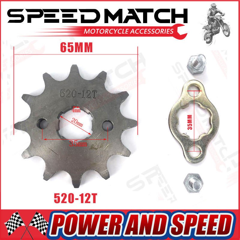 Front Engine Sprocket 520# 10T-17T 12 13 Teeth 20mm For 520 Chain With Plate Locker Motorcycle Dirt Bike Pit Bike ATV Quad Parts motorcycle 530 17t 43t front