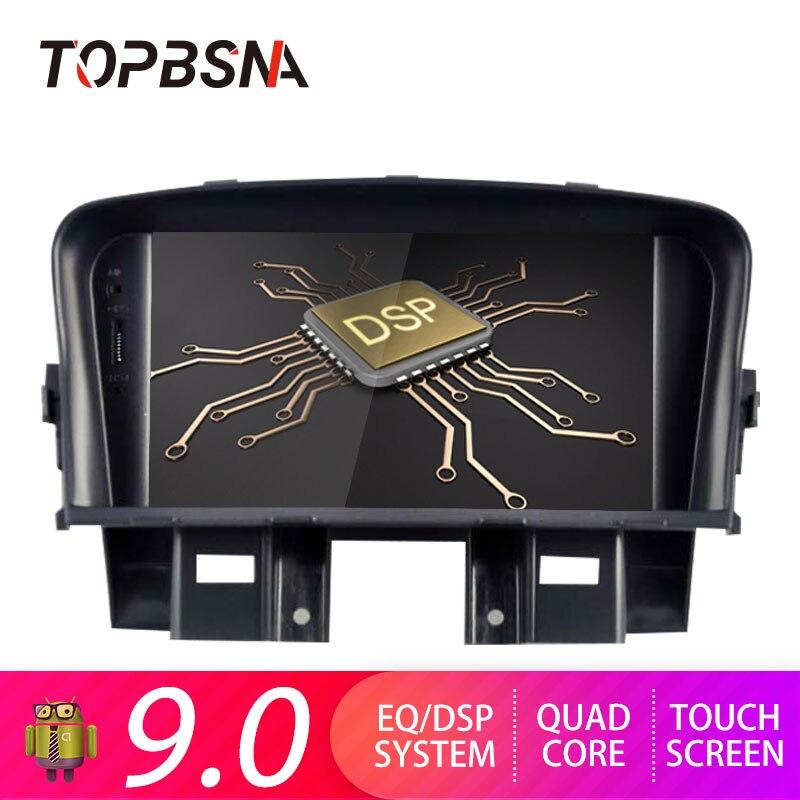 Lecteur DVD de voiture TOPBSNA Android 9.0 pour Chevrolet CRUZE 2008-2012 GPS Navi 2 din autoradio stéréo mirroir-link WIFI Audio USB TMPS