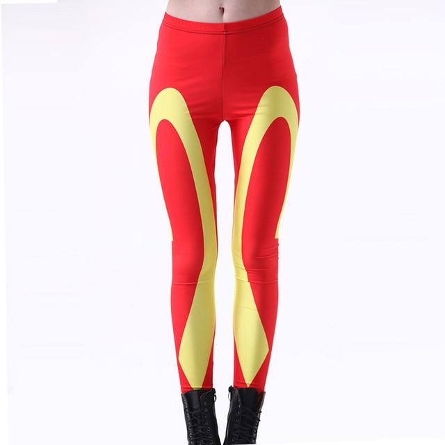 ddfaaedf25976c New Arrival 3238 Sexy Girl Women Red hamburger chips Mcdonald 3D Prints  Elastic Fitness Polyester Walking Leggings Pants