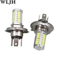 WLJH 2x 6000K 800lm 5630 SMD 12v Led H4 Light Bulb Fog Light Low Beam Headlight