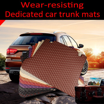 Custom fit car Trunk mats for BMW 3 series E46 E90 E91 E92 E93 F30 F31 F34 GT 5D car styling carpet floor liners image