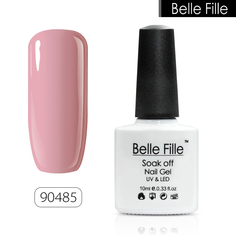 BELLE FILLE 10ml Colour UV Gel Nail Polish salon gel nail polish Bling lacquer Soak-off LED Gel easy painting fingernail polish
