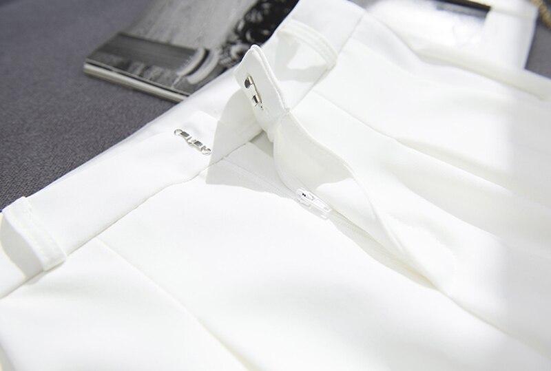 BGTEEVER OL Style White Women Pants Casual Sashes Pencil Pant High Waist Elegant Work Trousers Female Casual pantalon femme 17
