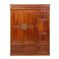 Китайский Fashioned старинная мебель из дерева шкаф для Одежда из массива дерева мебели Ежик палисандр с 3 двери