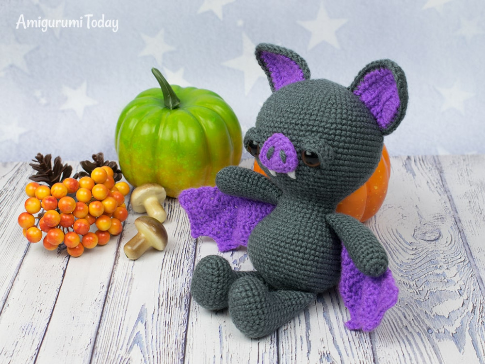 Amigurumi Crochet Soft And Dreamy  Bat Rattle Toy And Doll
