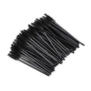 Image 5 - New 50pcs/Pack Disposable Eyelash Brushes Makeup Mascara Applicator Wand Eyes Lip Cosmetics Brushes Eye Lashes Cosmetic Brush