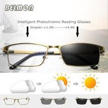 Фотохромные очки для чтения мужские анти-Синие лучи диоптрий дальнозоркости очки для мужчин очки+ 1,0+ 1,5+ 2,0+ 2,5+ 3,0+ 3,5 RS731