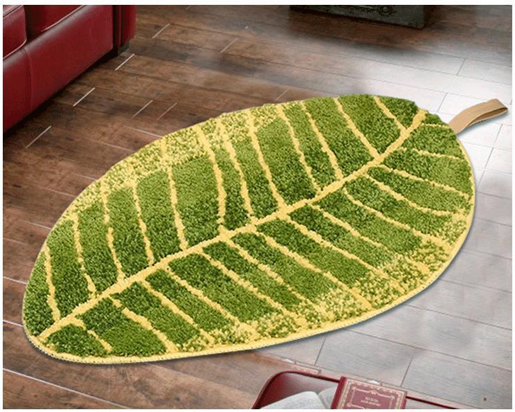 green kitchen mat ikea cupboards 45x75 45x120cm set leaves home entrance hallway door anti slip bathroom carpet sofa area rug cloakroom rugs in from garden on