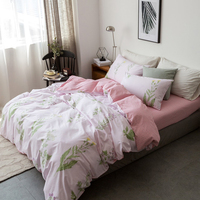Papa Mima Pastoral Style Bedding Set Small Flowers And Grass Print 100 Cotton Cotton Queen King