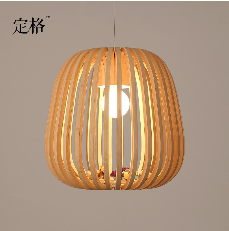 Pendant Lights with Bamboo Cage Lantern, Japan Design Bamboo Weave Art Lights, 40*40cm Bamboo Lantern, come with Bulb bamboo bedroom pendant lights balcony