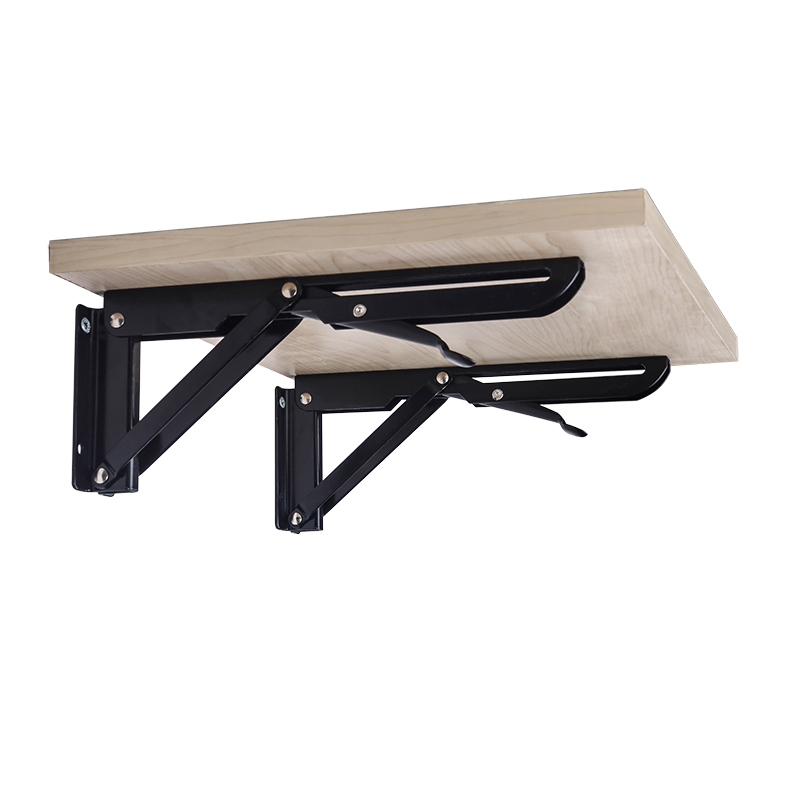 Decorative Wall Mounted Shelf Triangle Folding Foldable Metal Bearing Table Support Brackets Factory Triangle Folding Bracket original xk k124 bnf without tranmitter ec145 6ch brushless motor 3d 6g system rc helicopter compatible with futaba s fhss