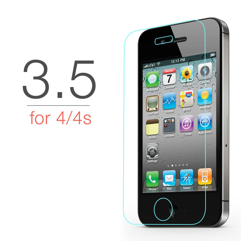 glass on for iphone 5s Tempered protective se 5 2.5d 9h film case 5c tempered hd