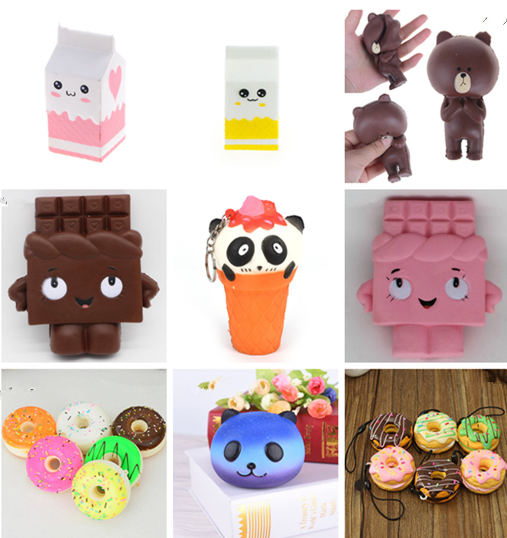 Antistress Ball Milk Bottle Peach Unicorn Sheep Bear Squeeze Squishy Toys Slow Rising Stretchy Animal Healing Fun Stress Toys