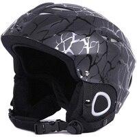Men/Women Ski Helmet Snowboard Snowmobile Helmet Skateboard Skating Sport Safety Helmet Sled Moto Cycling Cap Winter Warm Fleece