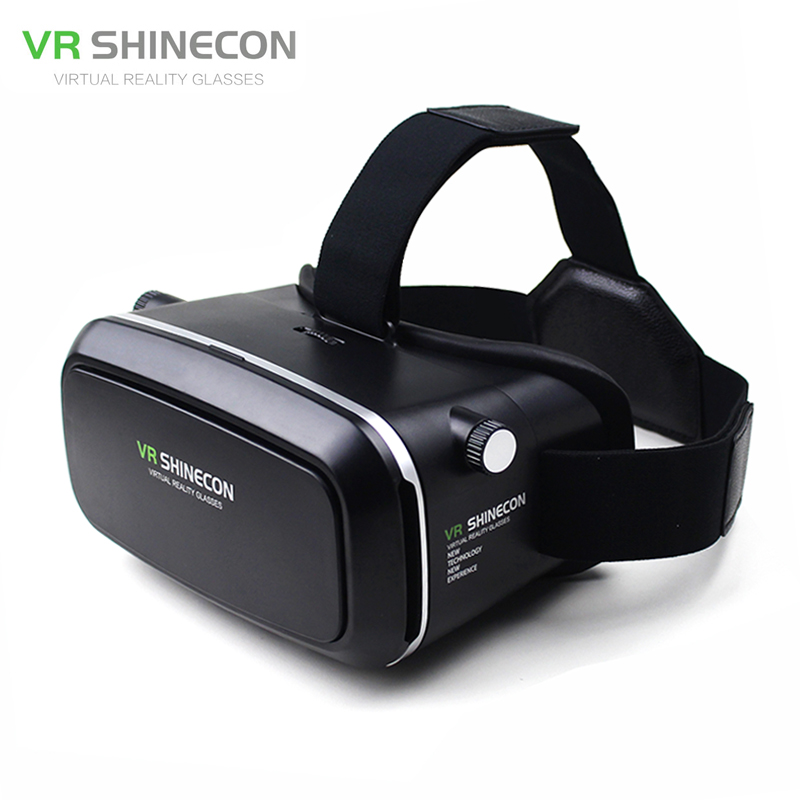 <font><b>VR</b></font> Shinecon <font><b>VR</b></font> <font><b>Virtual</b></font> <font><b>Reality</b></font> Real 3D <font><b>Glasses</b></font> Helmet <font><b>Cardboard</b></font> Mobile 3D Movie Cinema <font><b>for</b></font> <font><b>iPhone</b></font> Samsung 4.0 -6 inch Smartphone