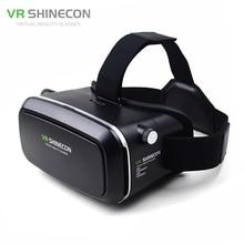 VR Shinecon VR Виртуальная Реальность 3D Очки Шлем Картона мобильных 3D Кино для iPhone Samsung 4.0-6 дюймов смартфон