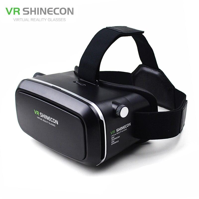 Vr shinecon виртуальной реальности реального 3D Очки шлем картон мобильного 3d фильм Кино для iphone Samsung 4.0-6 дюймов смартфон