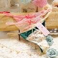 Sexy Underwear Mulheres Lace Adorável Rosa Floral Mulheres Tangas E G Cordas Calcinha Calcinha Ropa Mujer Braga Tanga Briefs Novo 2016