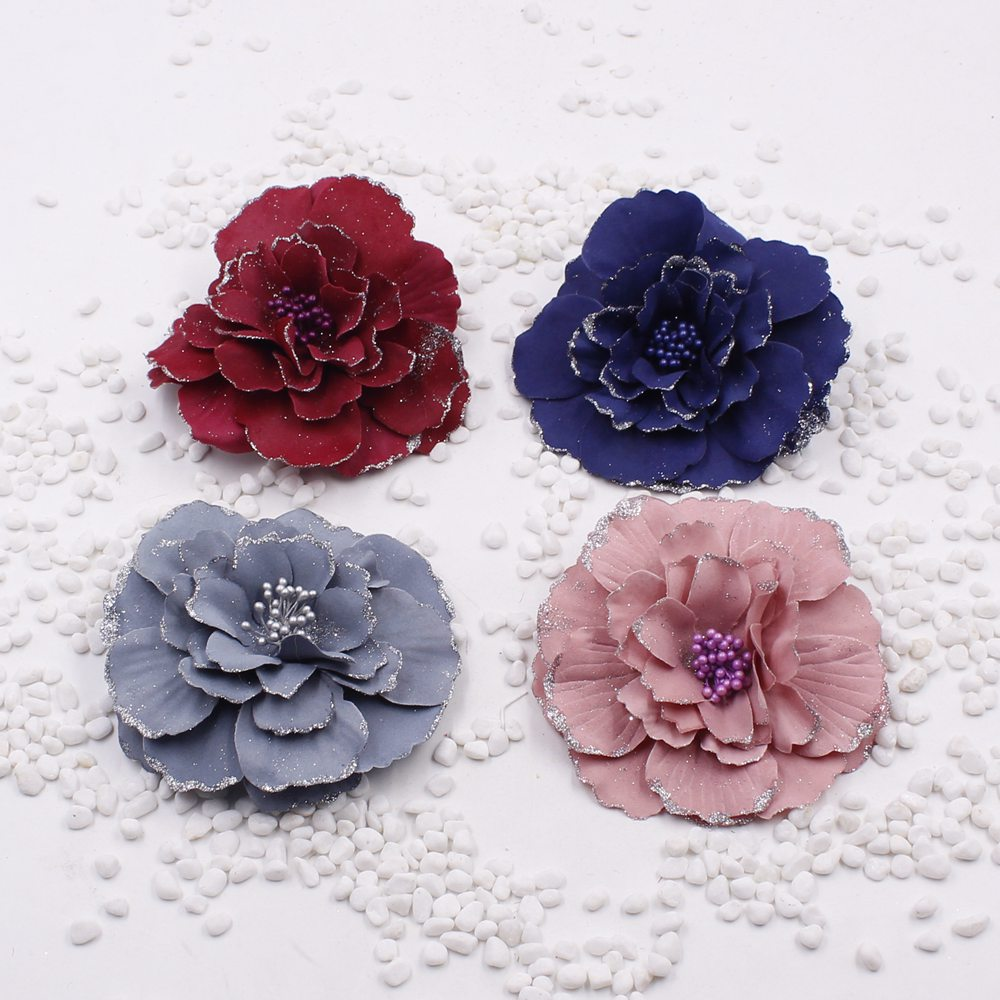 2pcs lot new artificial flowers silk flower headdress for Artificial flower for decoration
