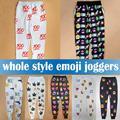 3D Emoji Print Pants Funny Cartoon Sweatpants 100 Black & White Hip Hop Loose Joggers Harem Trousers Sportswear Clothes Dropship
