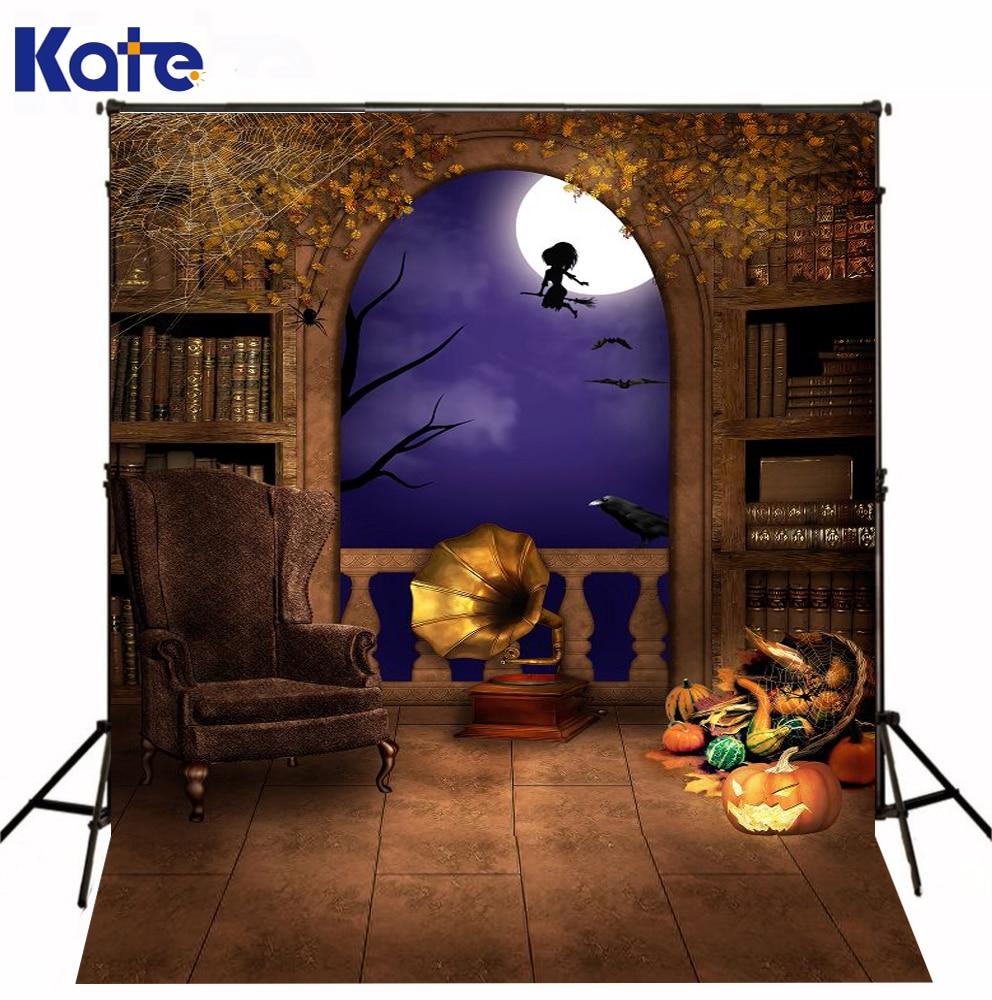 Kate Photo Backdrops Halloween Sofa Indoor Bat Photography Pumpkin Brick Floor Photo Background For Children сумка kate spade new york wkru2816 kate spade hanna