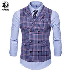 Новое поступление платье жилеты для Для мужчин Slim Fit Для мужчин s костюм жилет мужской жилет Homme Повседневное рукавов Формальное Бизнес