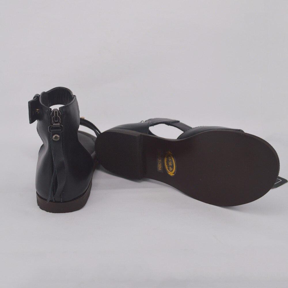 Plat Zip Protège En Véritable talon 12; De D'été 551 Avec Sandales Cuir Femmes Chaussures Xianyiduo Taille Grande wxOvqARx